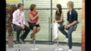 Alex Pettyfer and Emma Roberts on Breakfast TV in Manchester