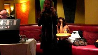 Alona Tal singing karaoke