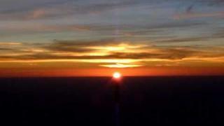 Amazing sunset in Sahara. November 2010.