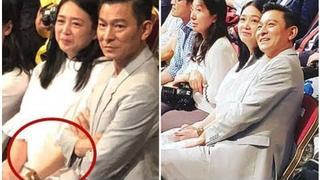 Andy Lau se svoji těhotnou manželkou