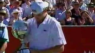Andy Roddick's Kooyong Classic Trophy Ceremony 2007