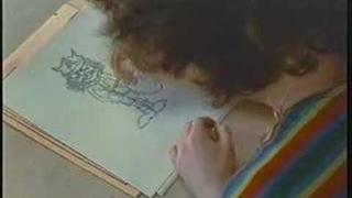 Angus Young draws himself!!