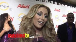 "AUBREY O'DAY Interview at ""All About Aubrey"" Premiere Party"