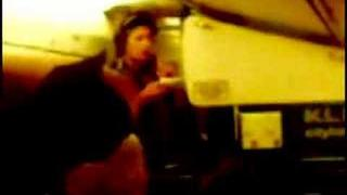 basshunter singing on plane