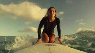 Beautiful surfing at Byron Bay