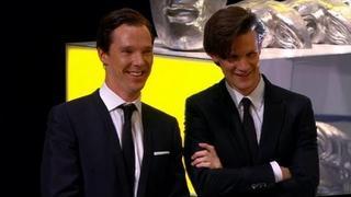 Benedict Cumberbatch And Matt Smith Present Steven Moffat's Special BAFTA Award