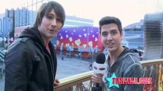 Big Time Rush's James Maslow & Logan Henderson on Fans!