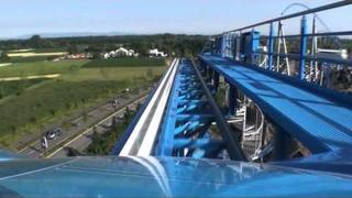 Blue Fire Roller Coaster On Ride POV - Europa Park, Germany HD