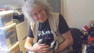 Brian May and Rescued Badger Cub, Virginia: April 2012