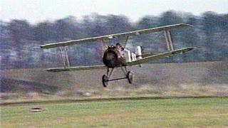 Brooklands Sopwith Camel flying at Booker Airfield in 1989
