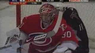 Cam Ward - 3 saves in a row