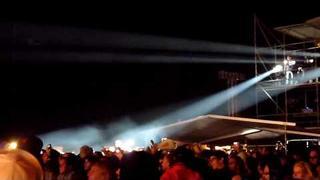 Campino Klettertour + Fackelzündung auf FOH @ Novarock 2009 [HD]