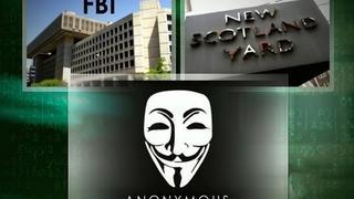 CBS Evening News with Scott Pelley - Anonymous hacks FBI call to Scotland Yard