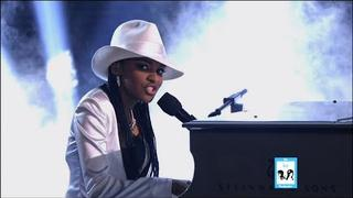 China Anne McClain as Alicia Keys on Sing Your Face Off
