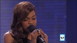 China Anne McClain as Rihanna on Sing Your Face Off