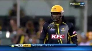 Chris Gayle 120 METER SIX in THE BIG BASH