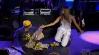 Chris & Tyra doing a broadway play