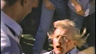 Classic fight scene from the 1991 movie Deadlock aka Wedlock head explosion