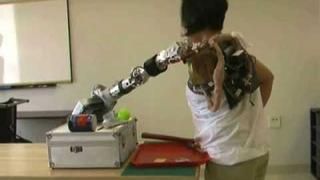 Claudia Mitchell Operates a Bionic Arm with her Brain at RIC (no sound)