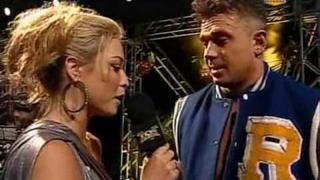 Courtney Taylor interviews Alex Riley (Riley turns good guy.. kinda)