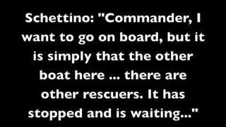 Cruise Capt. Francesco Schettino and Italian coast guard De Falco phone call