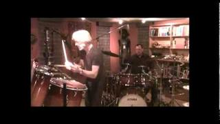 Danny Carey, Stewart Copeland, Les Claypool and Neil Peart jam