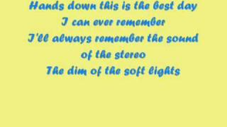 Dashboard Confessional - Hands Down - Lyrics