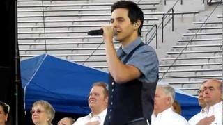 David Archuleta - Star Spangled Banner - Stadium of Fire 2011
