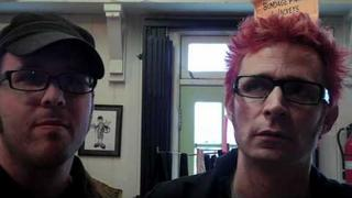 DJ Rossstar interviews Green Day's Mike Dirnt @ Dr. Strange Records on 2-26-11