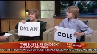 Dylan a Cole Sprouse ... Dobré ráno