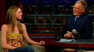Emily Vancamp on Letterman