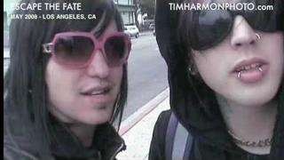 Escape the Fate - behind the scenes - TimHarmonPhoto.com