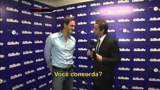 Felipe Andreoli entrevista Roger Federer