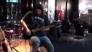 Felipe Andreoli testing his new EVH Wolfgang guitar