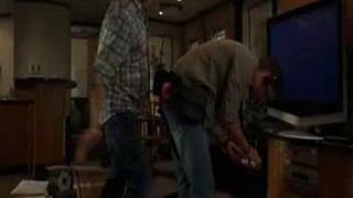 Jared smacking Jensen's bum