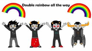 Gamzee: Fondly regard rainbow.