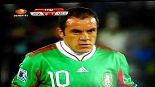 Gol Cuauhtémoc Blanco Francia VS Mexico Penal 0-2