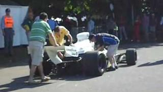 Goodwood Festival Of Speed 2009 - Old F1 cars starting up in paddock + Life Car can't start