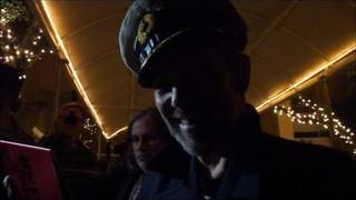 GORILLAZ - Paul Simonon, Damon Albarn, and Mick Jones after show, Los Angeles, October 2010