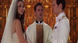 "Gossip Girl 5x13 Chuck & Blair -""Blair sees Chuck in the church"""