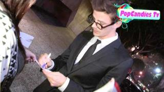 Grant Gustin of Glee greets fans at 23rd Annual GLAAD Media Awards in LA