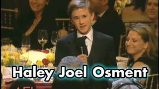 "Haley Joel Osment On Being Tom Hanks' ""Son"" In FORREST GUMP"