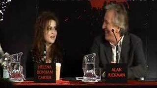Helena Bonham Carter at Sweeney Todd London Press Conference
