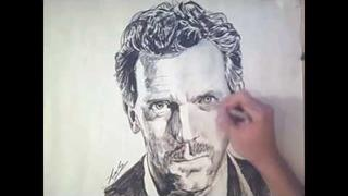 House MD (Hugh Laurie) Portrait Speed drawing