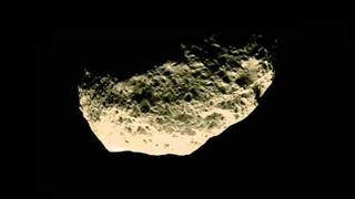 Hyperion Flyby (moon of Saturn) 2010 - Colorized
