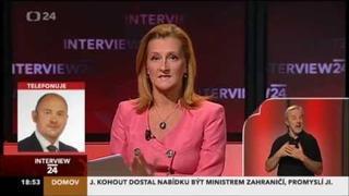 Interview ČT24:     Daniela Drtinová - Michal Hašek