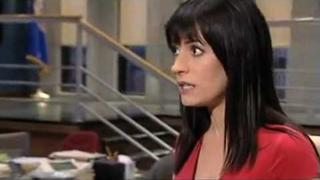 Interview on the set of the season finale with paget brewster