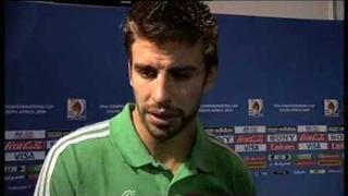 Interview with Gerard Pique (English) after the loss to USA at the 2009 Confederations Cup