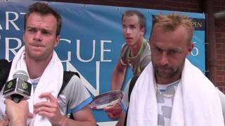 Jan Šátral a Roman Jebavý po vyřazení z Sparta Prague Open