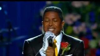 "Jermaine Jackson singing at ""Michael Jackson memorial"""